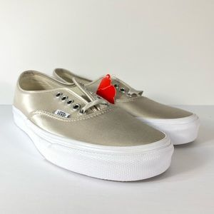 Vans Authentic Satin Lux Light Silver Sneakers